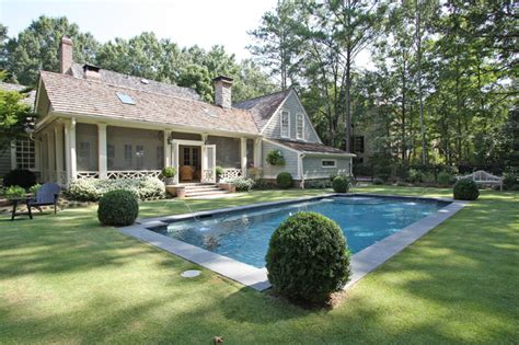 Above Kitchen Cabinet Decorative Accents by Screened Porch And Pool Traditional Pool Atlanta