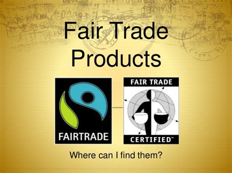 Where To Find Fair Trade Products