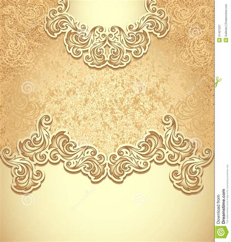 template vintage background gold stock vector image