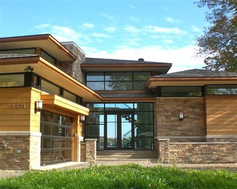prairie style garage plans contemporary prairie style home beautiful rock siding for houses taller garage with