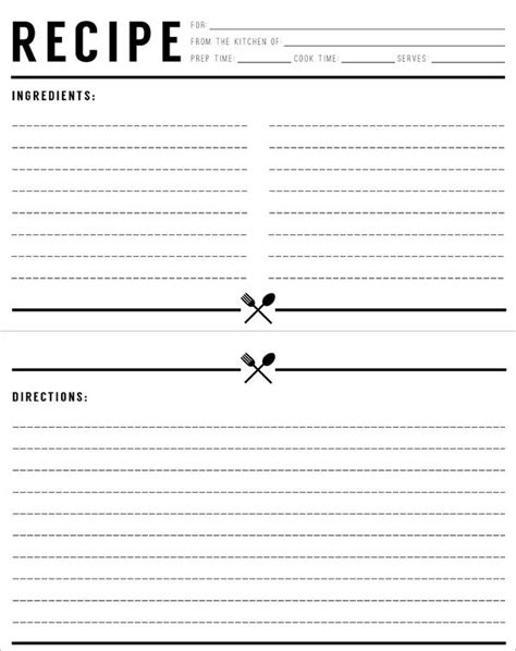 recipe template  word recipe cards template recipe