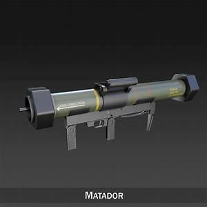 3d model of launcher gun weapon