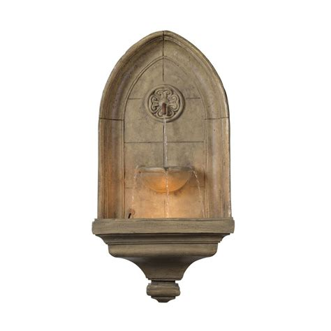 lighted wall fountains outdoor kenroy home canterbury indoor outdoor lighted wall