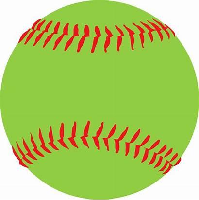 Softball Clipart Ball Neon Soft Fonts Clip