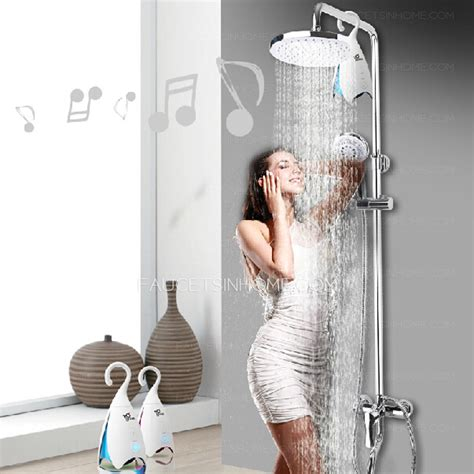 fashionable bluetooth  shower faucet bathroom system