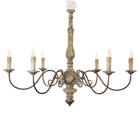 antique iron avignon country rustic gold iron scroll chandelier