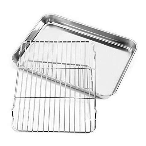 sheet baking oven toaster rack stainless pan tray steel cookie nonstick toxic dishwasher inch non pans rectangle clean easy cooling