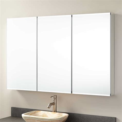 surface mount medicine cabinet with mirror signature hardware 48 quot furview surface mount medicine