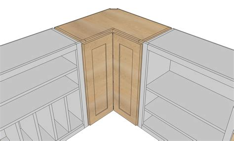 How To Build A Corner Cabinet With Doors - white wall corner pie cut kitchen cabinet diy projects