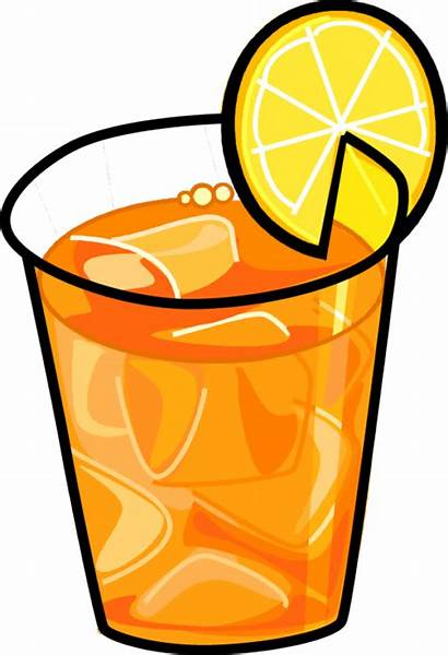 Tea Iced Clip Ice Clipart Glass Beverage