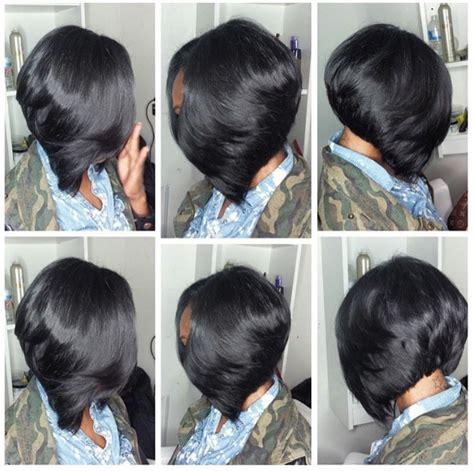 Sew In Layered Bob Hairstyles by Layered Bob Sew In Hair Sew In Bob Hairstyles Bob Sew