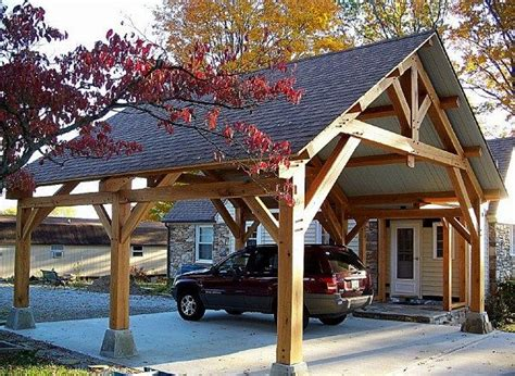 Timber Car Ports by Timber Frame Pavilions Homestead Timber Frames Wood