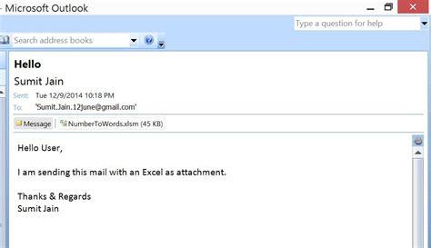 excel vba send  excel workbook  attachment  mail