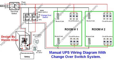 manual ups wiring diagram  change  switch system