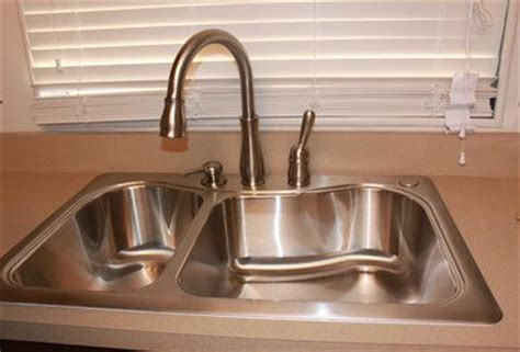 installing delta kitchen faucet how to install a delta kitchen faucet