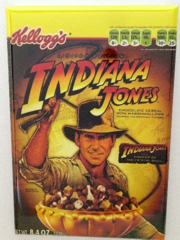 kelloggs indiana jones cereal refrigerator fridge magnet chocolate whip