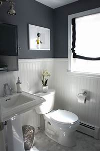 Half bathroom ideas gray info home and furniture for Half bathroom design ideas