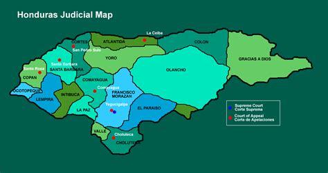 honduras judicial map