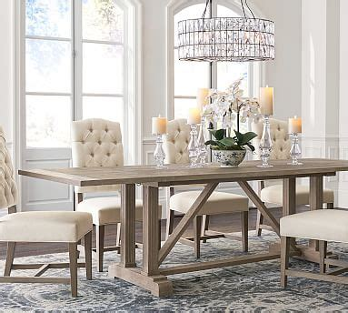 livingston extending dining table pottery barn