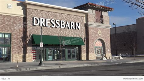 Dressbarn Clothing Store Front View Stock Video Footage