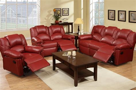 reclining sofa sets sale red reclining living room sets