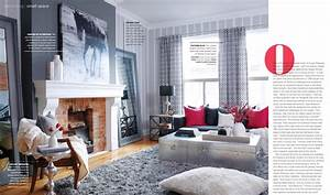 Grey Matters Red Pops Interiors By Color Living Room In