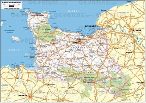 Carte De Plage Normandie by Carte Basse Normandie 187 Vacances Arts Guides Voyages
