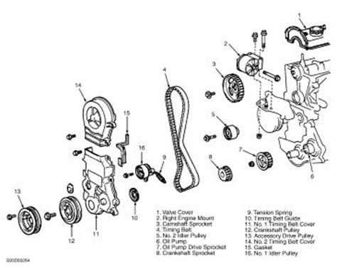 1992 toyota tercel timing marks for belt engine mechanical