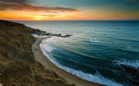 Coast Sundown Hd Desktop Wallpapers 4k Hd