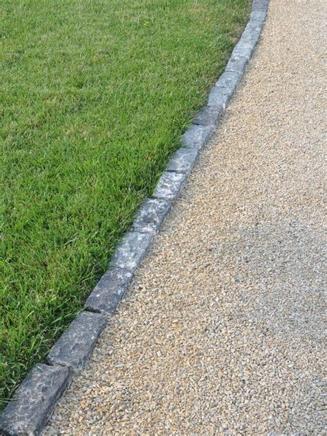 gravel driveways edging for gravel driveway outdoor design pinterest