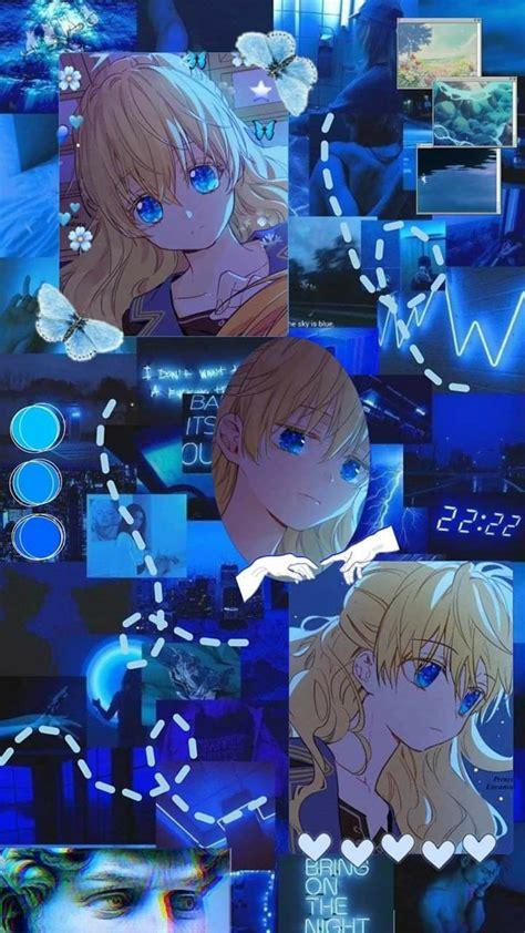 wallpaper anime aesthetic warna biru