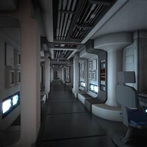 maya spaceship corridor