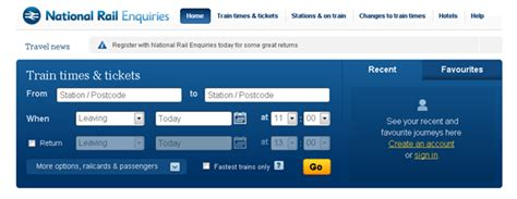 National Train Enquiries Journey Planner