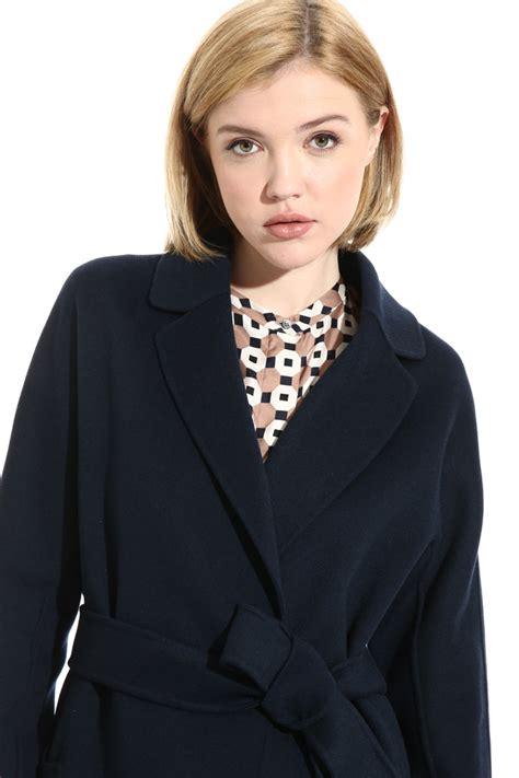 Pure wool coat, night blue - Intrend   Wool coat, Fashion ...
