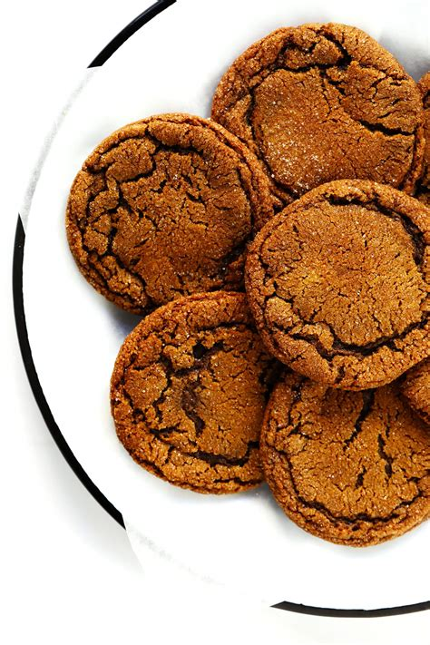 chewy ginger molasses cookies gimme  oven