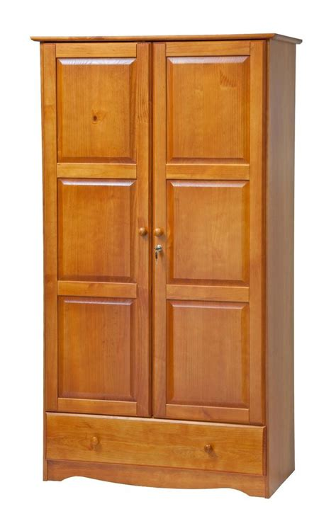 Buy Wooden Wardrobe by 100 Solid Wood Universal Wardrobe Armoire Closet By