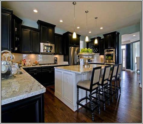 espresso kitchen cabinets  white island kitchen