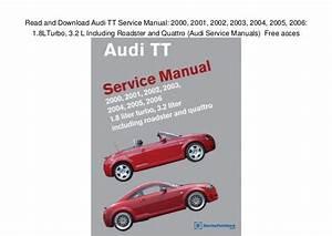 2001 Audi Tt Quattro Roadster Owners Manual Pdf  U0026gt  Lowglow Org