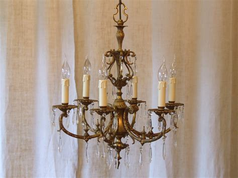antique chandeliers for exquisite vintage italian 6 arm gilded brass and