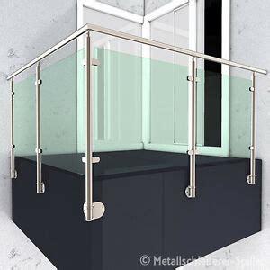 edelstahl gelaender balkon handlauf glashalter vorgesetzte