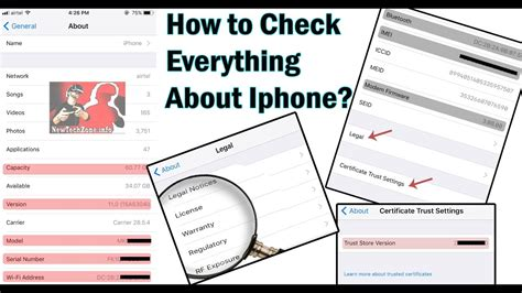 how to check iphone version how to check everything about iphone model imei ios