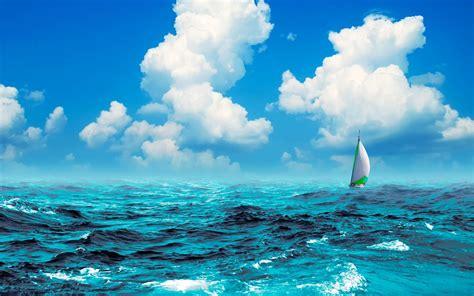 perahu layar  laut hd wallpaper desktop layar lebar