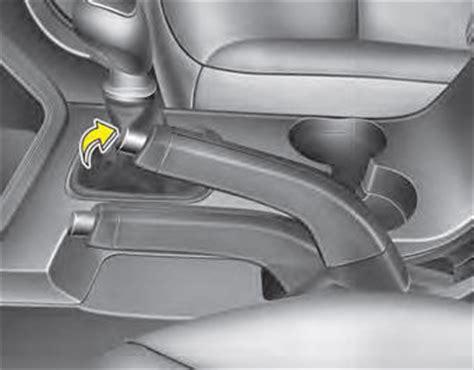 kia sorento parking brake brake system driving