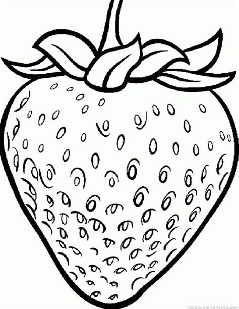 strawberry coloring pages images  pinterest