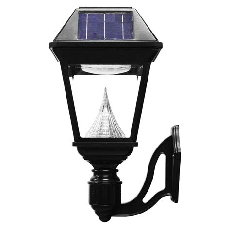 gama sonic imperial ii wall mount solar light