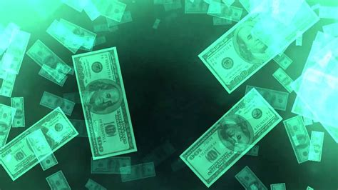 dollar bills falling  footage stock background video