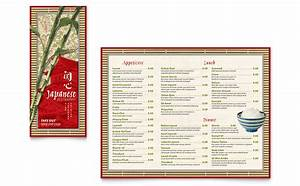 japanese restaurant take out brochure template word With microsoft publisher menu templates free