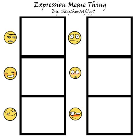 Meme Blank Pictures - expressions meme thing blank by skythewolfdog9 on deviantart