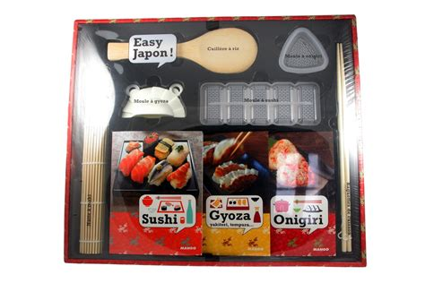 coffret cadeau cuisine de nouveaux livres de recettes japonaises et un coffret