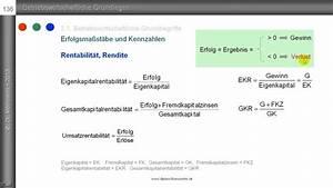 Duration Berechnen : betriebswirtschaftliche kennzahlen wirtschaftlichkeit produktivit t rentabilit t ~ Themetempest.com Abrechnung